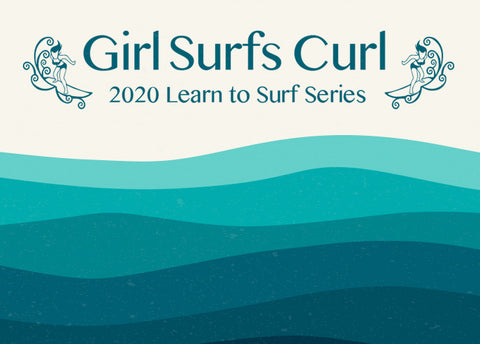Girl Surf Curl  - Family Fun Surf Day
