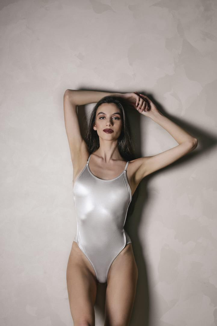 BIANCA One-Piece in  Silver Pearl