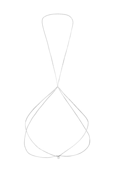 Mykonos Body Chain, Stainless Steel