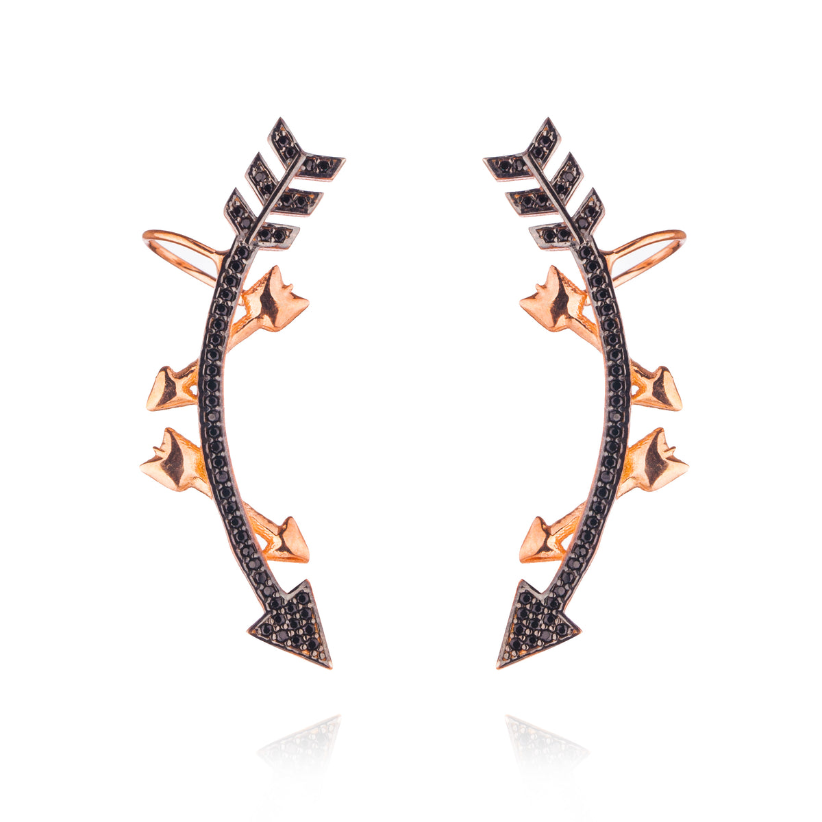 Arrow Ear Cuffs, Rose Gold Plated