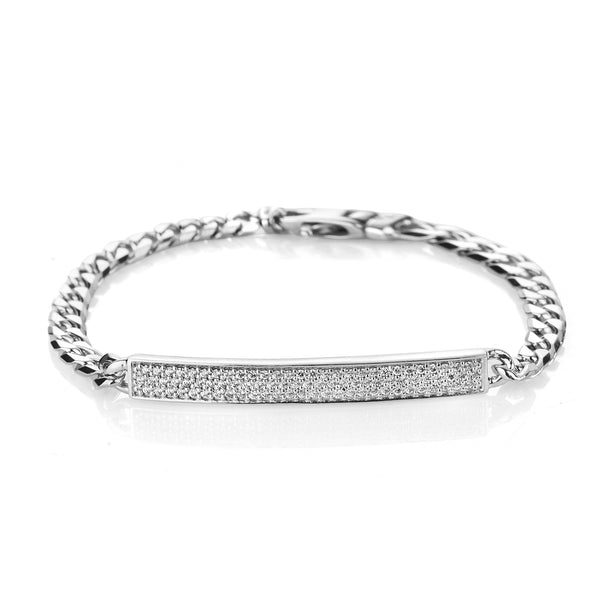LA Chain Mini Bracelet with Swarovski Zirconia