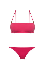 NIKKI SWIM SET, RUBY PINK