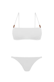NIKKI SWIM SET, PURE WHITE