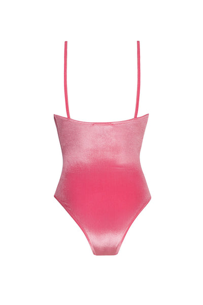 MIA One-Piece in Pink Velvet