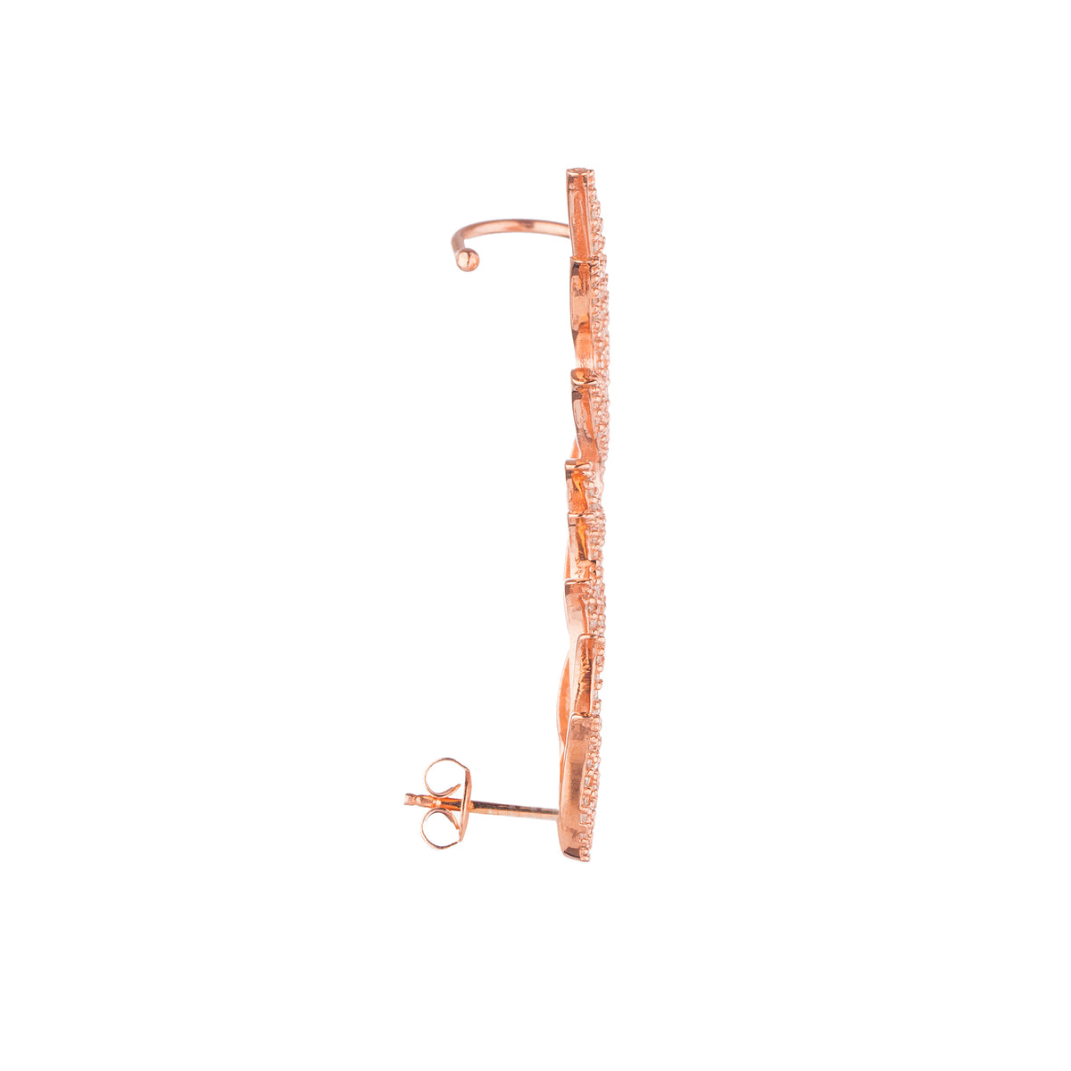 FIRE FLAME EAR CUFF, ROSE GOLD PLATED