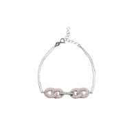 Love Silver Bracelet with rhodium plating