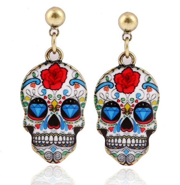 Candy Skull Earrings