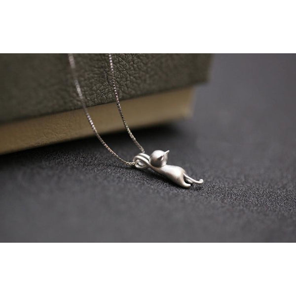 Sterling Cat Necklace - All Star Products