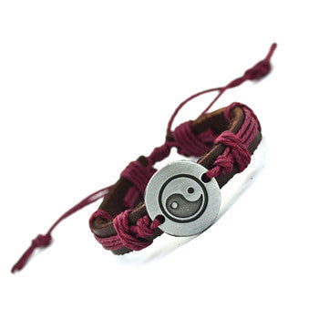 Vintage Yin Yang Leather Bracelet - All Star Products