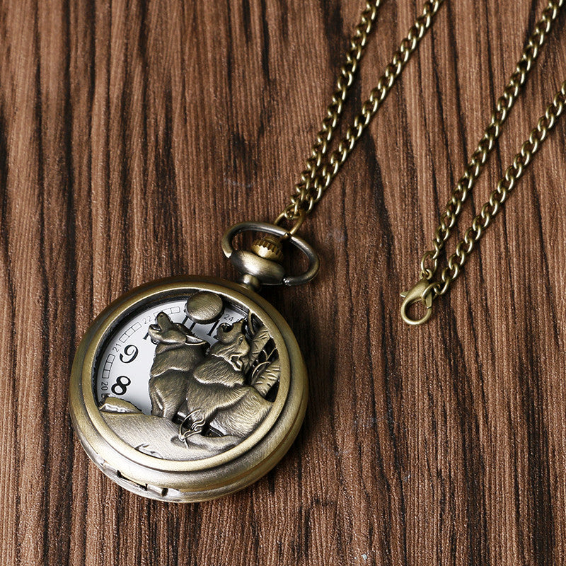 Howling Wolf Hound Pocket Watch - All Star Products