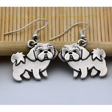 Adorable Shih Tzu Earrings
