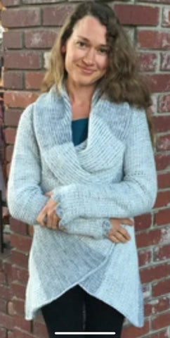 Consuelo Alpaca Thick Knit Wrap Sweater