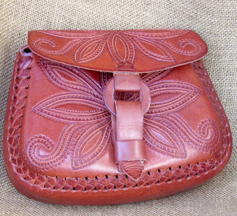 Leather Hand Tooled Purses and Bags
