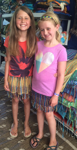Kid's Oljas Handwoven Skirts with Fringe