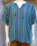 Bahia Mens Handwoven Colorful Shirt