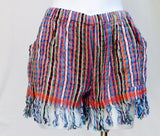 Bahia Handwoven Beach Shorts with Fringe