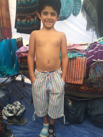 Kid's Pescador Short Handwoven Drawstring Pants