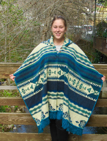 Alpina Alpaca Tribal Poncho