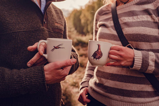 Pheasant and Red Grouse mugs by Angus Grant Art