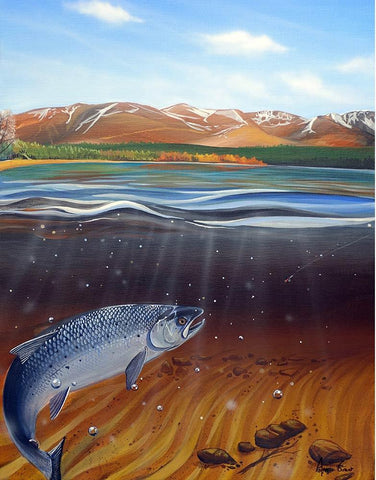 A Rare Find at Loch Morlich metal print by Angus Grant Art
