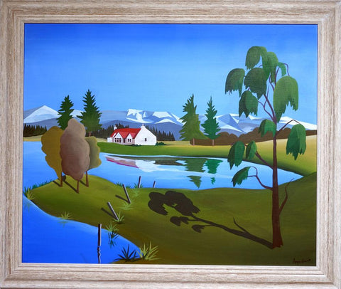 Avielochan painting by Angus Grant. Aviemore, Cairngorms National Park