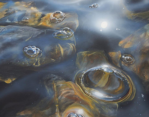 Bubbles on Loch Ericht Metal Print by Angus Grant Art