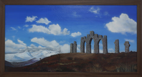 Fyrish Monument painting by Angus Grant Art