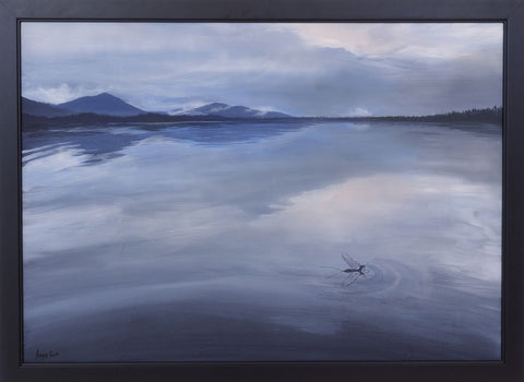 Late Mayfly at Loch Morlich painting by Angus Grant Art