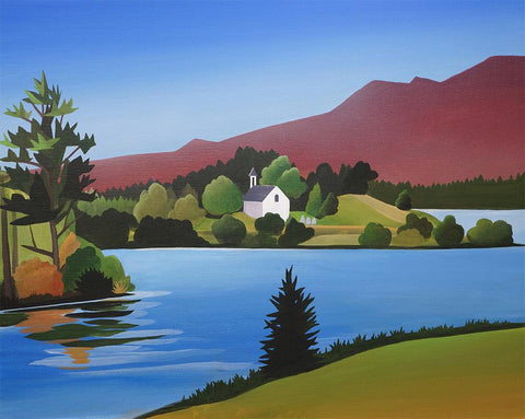 Loch Alvie Metal Print by Angus Grant Art