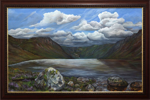 Loch Einich painting by Angus Grant Art