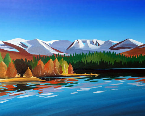 Loch Morlich Autumn Metal Print by Angus Grant Art