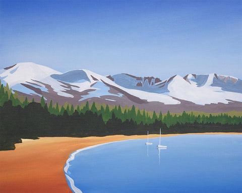 Loch Morlich Beach Metal Print by Angus Grant Art