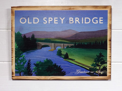 Old Spey Bridge Pine Print