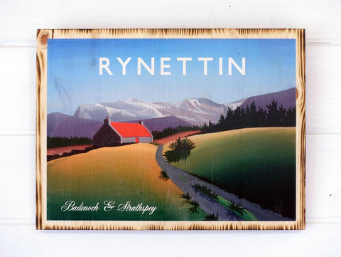 Rynettin Pine Print by Angus Grant Art, Cairngorms National Park