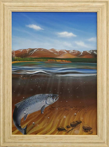 A Rare Find at Loch Morlich painting by Angus Grant