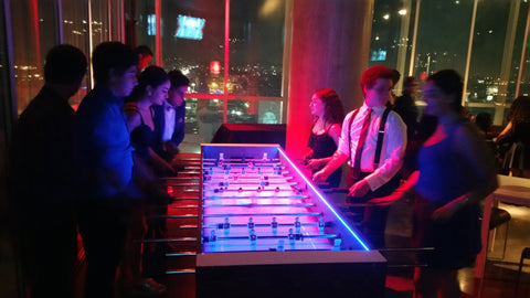 Giant LED Foosball