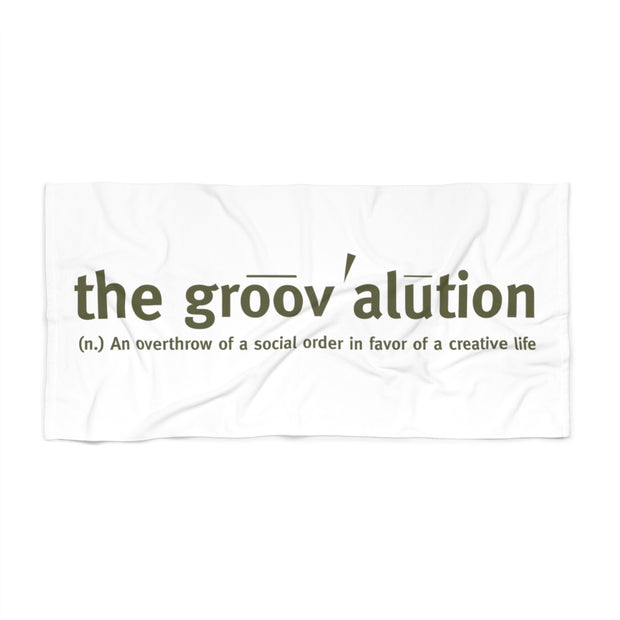 The Groovalution Beach Towel