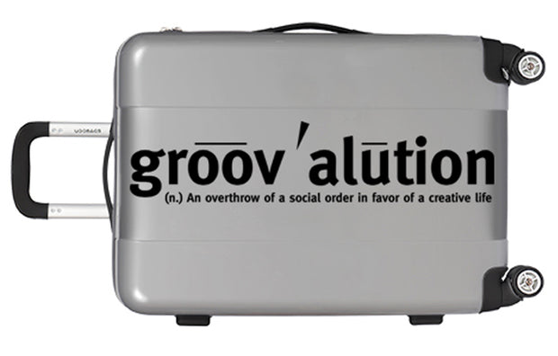 Silver & Black Groovalution Suitcase