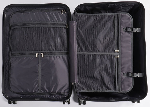 White & Duotone Groovalution Suitcase