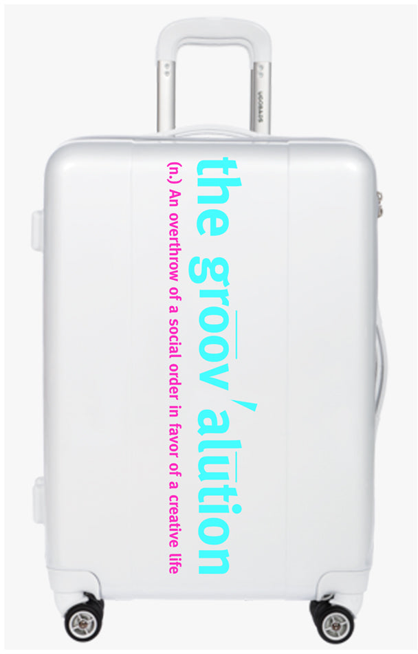All White Duotone Groovalution Suitcase