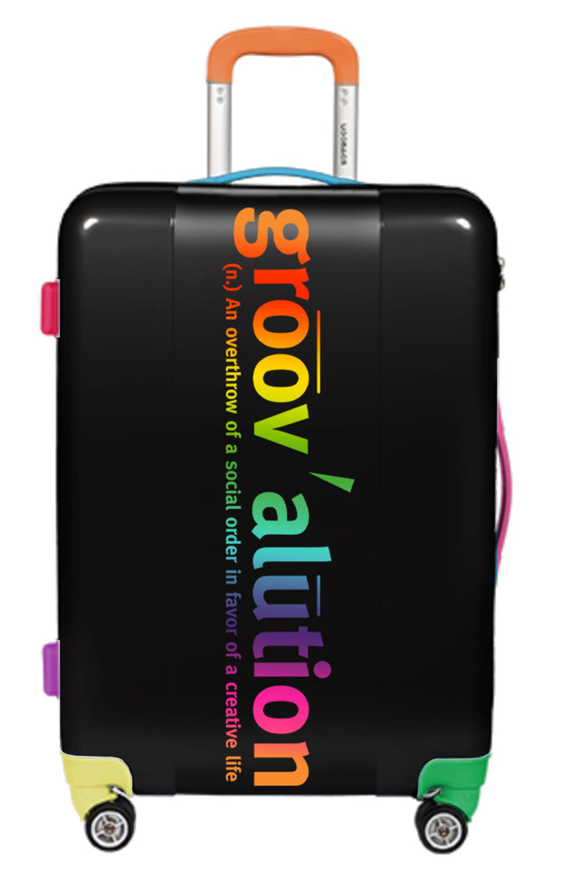 Black Rainbow Groovalution Suitcase