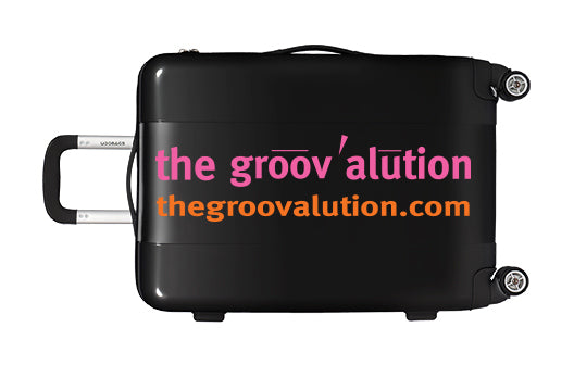 Black & Duotone Groovalution Suitcase