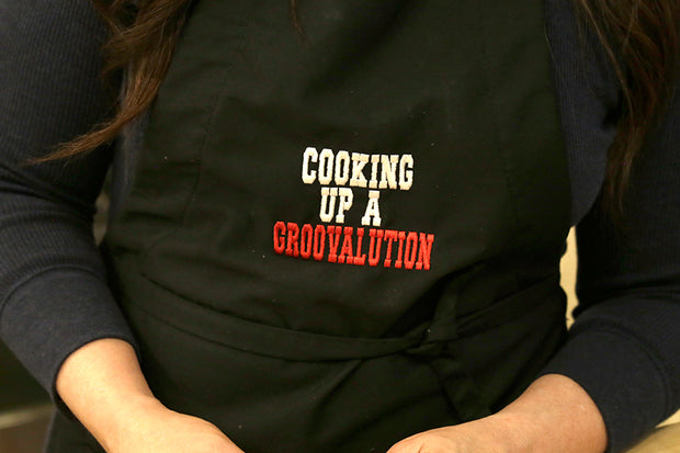The Groovalution Embroidered Apron