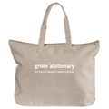 Groovalutionary Canvas Book Tote