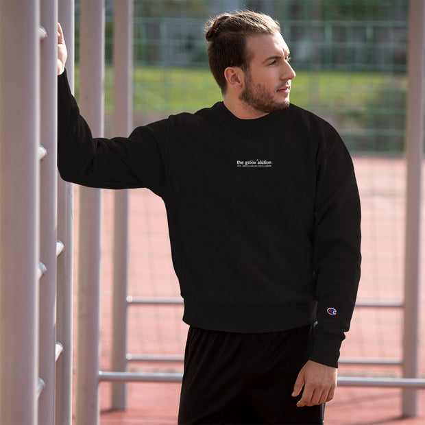 The Groovalution Embroidered Champion Sweatshirt