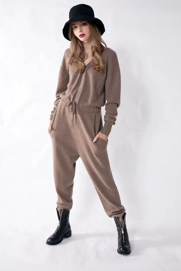 Luxury Cashmere Jumpsuit For The Refined Rebel