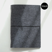 Soft felt fabric notebook, loose leaf inner core ring binder  A5, A6 size with customizable pages