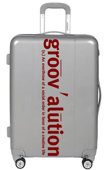 Grey and Scarlet Groovalution Suitcase