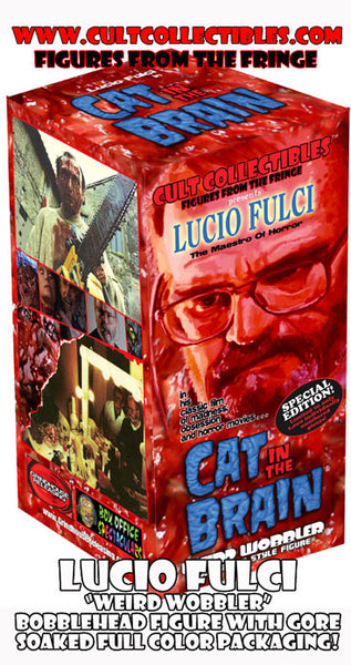 "LUCIO FULCI ""CAT IN THE BRAIN"" ""WEIRD WOBBLER"" BOBBLEHEAD! (FIGURE #1 of 1,000!)"