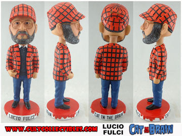 "Copy of LUCIO FULCI ""CAT IN THE BRAIN"" ""WEIRD WOBBLER"" BOBBLEHEAD! (DENTED PACKAGING) (VERY LOW QUANTITIES REMAINING!)"